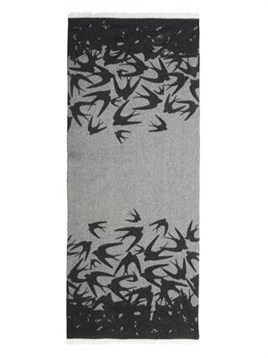 Dégradé swallow-print scarf