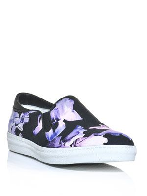 Floating iris-print sneakers
