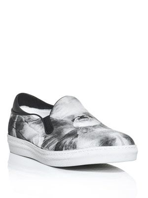 Mirrored iris-print sneakers