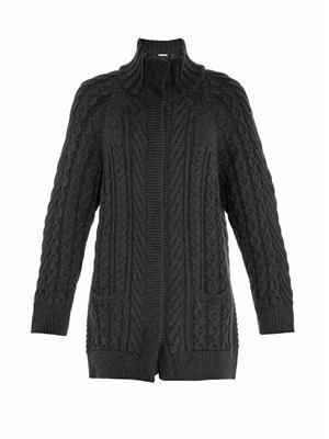 Leandra merino-wool cardigan