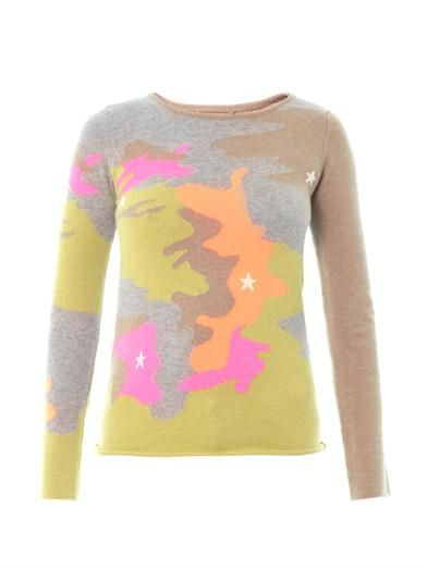 Queene and Belle Camo intarsia knit sweater