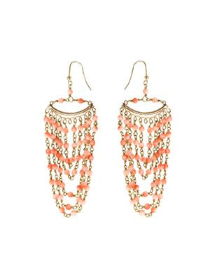 Rimini pink coral earrings