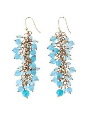 Grappolo angiolite earrings