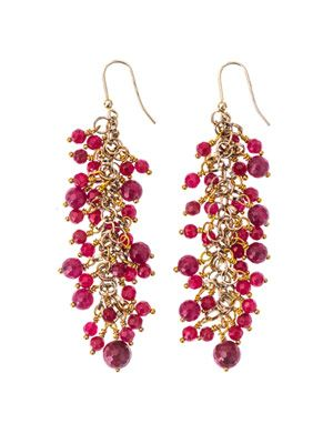 Grappolo ruby roots earrings