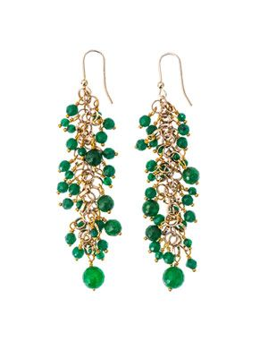 Grappolo jade earrings