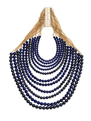 Raissa lapis and agate necklace