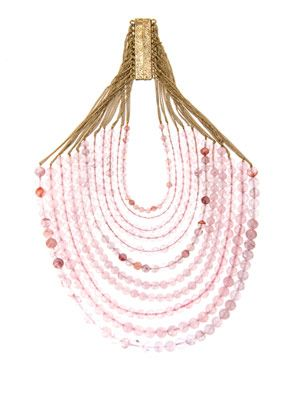 Raissa rose-quartz necklace