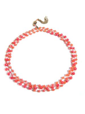 Rosarietto coral and fluoro agate necklace