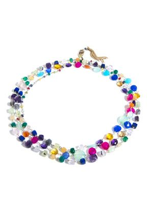 Rosarietto multicoloured stone necklace