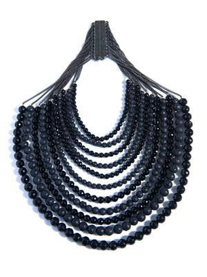 Raissa onyx and volcanic lava necklace