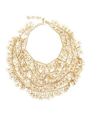 Carmen river-pearl bib necklace