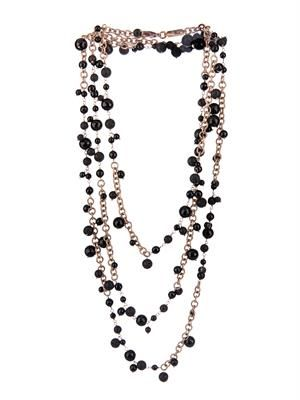 Chimera onyx, lava & gold-plated necklace