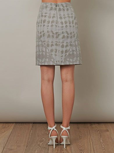 Richard Nicoll Jacquard zip hem skirt