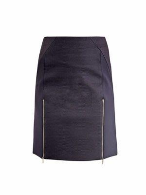 Front-zip mini skirt