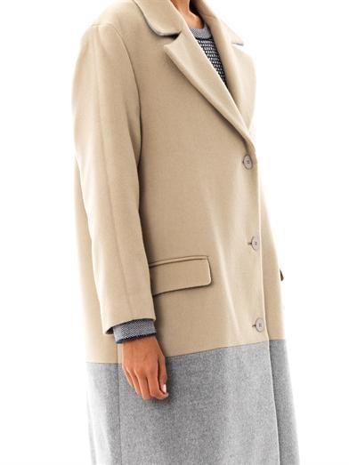 Richard Nicoll Bi-colour wool coat