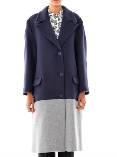 Richard Nicoll Bi-colour wool coat