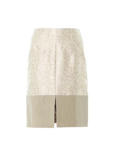 Richard Nicoll Snake-effect contrast panel skirt