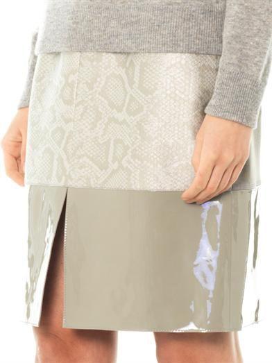 Richard Nicoll Snake-effect contrast panel skirt