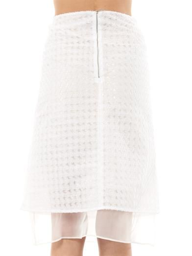Richard Nicoll Hound's-tooth jacquard midi skirt