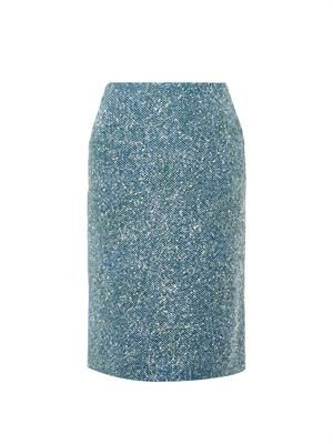 Lurex-tweed pencil skirt
