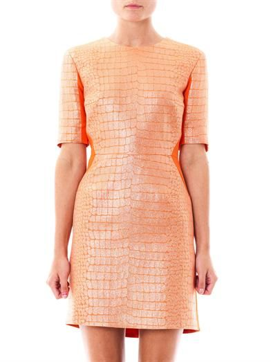 Richard Nicoll Bi-panel jacquard dress
