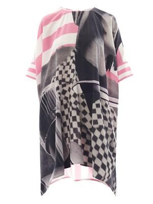 Linder contrast-print silk dress