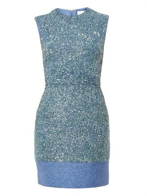 Lurex-tweed dress