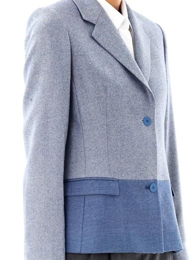 Richard Nicoll Two-tone herringbone wool blazer