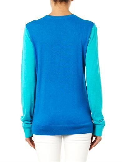 Richard Nicoll Colour-block wool-blend sweater
