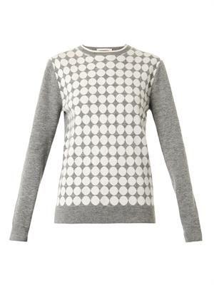 Circle intarsia-knit sweater