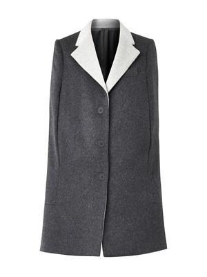 Wool and angora-blend cape coat