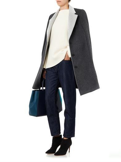 Richard Nicoll Wool and angora-blend cape coat