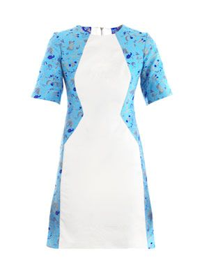 Illusion jacquard dress