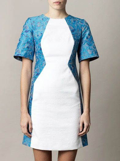 Richard Nicoll Illusion jacquard dress