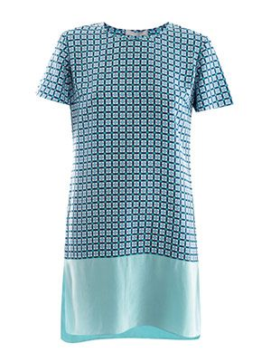 Geometric step-hem dress
