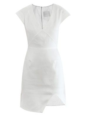 Cotton pique fitted dress
