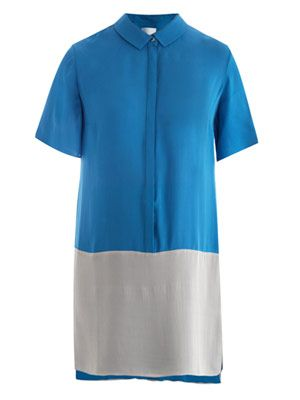 Bi-colour shirt dress