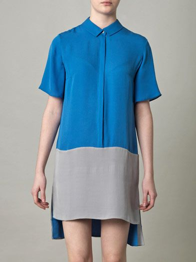 Richard Nicoll Bi-colour shirt dress