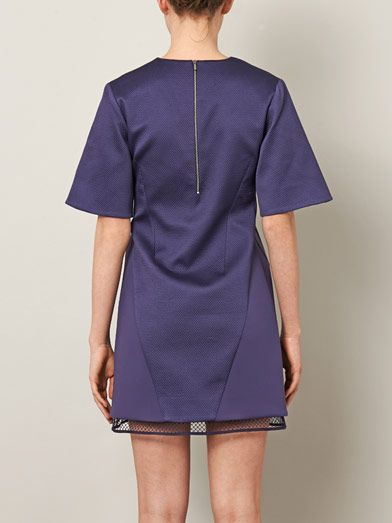 Richard Nicoll Mesh V-neck shift dress