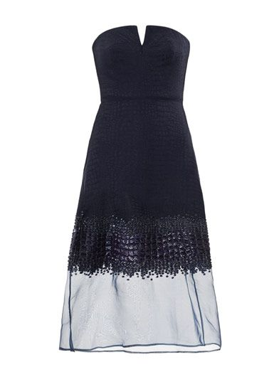 Richard Nicoll Embroidered strapless dress