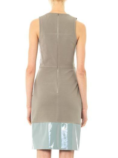 Richard Nicoll Patent leather panel dress