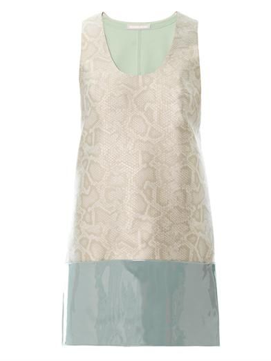 Richard Nicoll Snake-effect jacquard shift dress