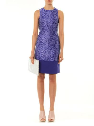 Richard Nicoll Snake-effect jacquard sleeveless dress