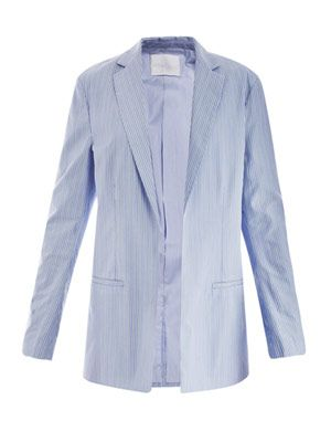 Shirting-stripe suit jacket