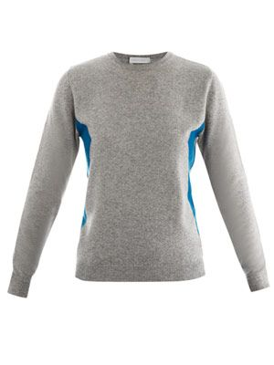 Diamond illusion cashmere sweater