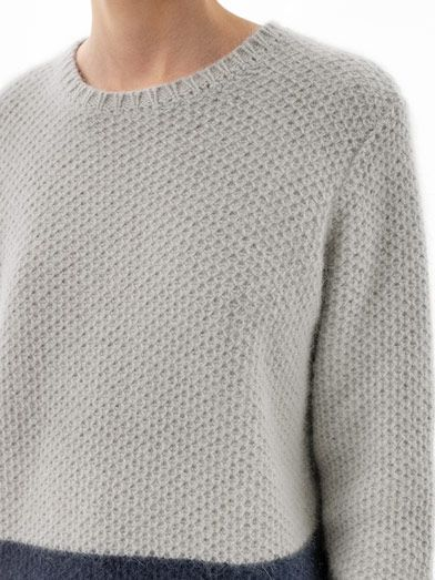 Richard Nicoll Bi-colour waffle-knit sweater