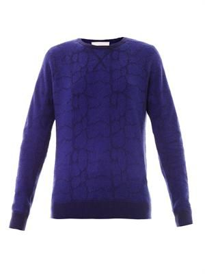 Intarsia knit sweater