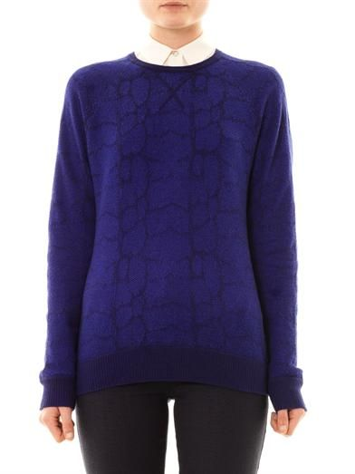Richard Nicoll Intarsia knit sweater