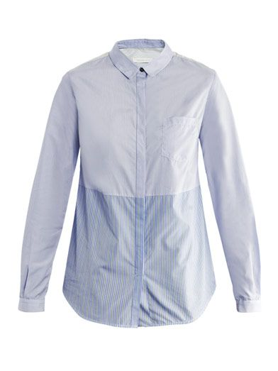 Richard Nicoll Contrast stripe shirt