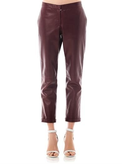 Richard Nicoll Leather chino style trousers